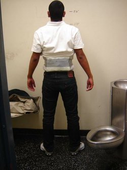 This teen was caught entering the U.S. from Mexico with narcotics strapped to his torso.
