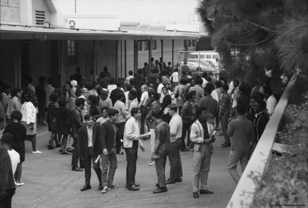 The student population was 80 percent African-American by 1969, at was at the center of Civil Rights discussions.