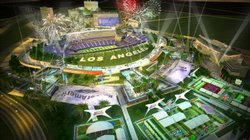 Artist's rendering of a proposed NFL stadium in Industry.