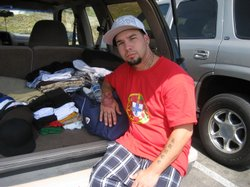 Kenneth Kunce, an Iraq war veteran who is living out of the back of his truck...