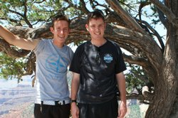 Brothers Matt (right) and Mitch (left) Barnes say growing up in a military fa...
