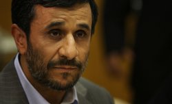 Iranian President Mahmoud Ahmadinejad attends a meeting with UN Secretary-Gen...