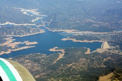 In this 2008 photo, the water level in Lake Oroville, a major California rese...