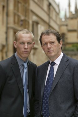 "Sergeant Hathaway (Lawrence Fox) and Inspector Lewis (Kevin Whatley) of ""Masterpiece Mystery."""