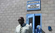 Coordinator Thomas Alexander leaves the prison's substance abuse recovery fac...