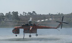 The Incredible Hulk helicopter can carry 2,500 gallons of water and can refuel in about 45 seconds.