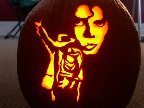 Michael Jackson pumpkin by  John.