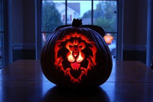 World of Warcraft pumpkin by Somegeekintn.