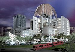 Rendering of the proposed Downtown San Diego Central Library.