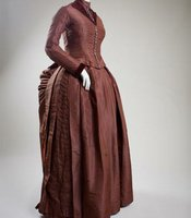 This wedding gown was made by Ophelia Agnes, the sister of the bride, in 1887.