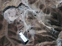 This satellite image taken Sept. 26 shows a nuclear facility located 20 miles...