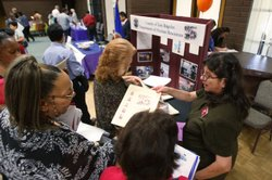 Job seekers get help at the Senior Job Fair at the Arcadia Community Center o...