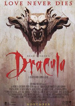 """The theatrical poster for """"Bram Stoker's Dracula."""""""