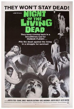 """The theatrical poster for """"Night of the Living Dead."""""""