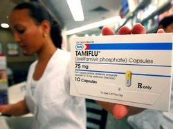 A package of Tamiflu is seen in a pharmacy in the Queens borough of New York City. Demand for the anti-viral medicine Tamiflu spiked in spring 2009, after swine flu cases were documented.
