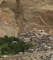 Village of Tsele, Upper Mustang, Nepal.