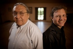 Darrell Kipp (left), a Blackfeet Indian poet fighting to save his language fr...