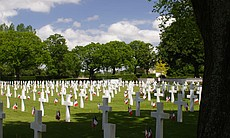 Brittany American Cemetery, France.