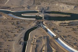 The All American Canal, the main water conduit from the Colorado River into the Imperial Dam, Imperial Valley, 6 August 2009.
