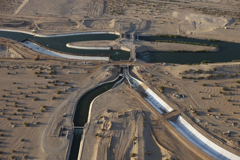 The All American Canal, the main water conduit from the Colorado River into t...