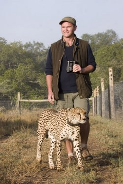 "Interview with Filmmaker Simon King: NATURE goes behind the scenes of ""The Cheetah Orphans"" in an interview with filmmaker Simon King. Pictured: Toki and Simon King."