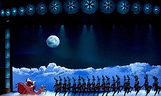 Santa's journey takes the audience from New York City to the North Pole.