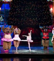 "This multifaceted spectacular includes dynamic scenes of childhood dreams coming true in the ""Nutcracker."""