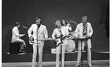 "The Beach Boys perform ""Good Vibrations,"" one of the top hits of the decade."