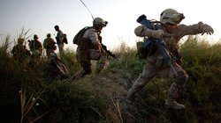 U.S. troops move into Helmand province during a major offensive against the Taliban stronghold in southern Afghanistan.