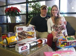 Hundreds of military families showed up for toys during the Operation Homefro...