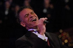 Tony Award-winner Brian Stokes Mitchell performing with the Mormon Tabernacle Choir and Orchestra at Temple Square.