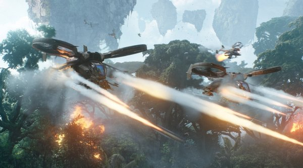 """""""Avatar's"""" final battle that reminded me of Ewoks fighting Storm Troopers."""