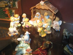 Animals replace people in many of the nativity scenes displayed at Father Joe...