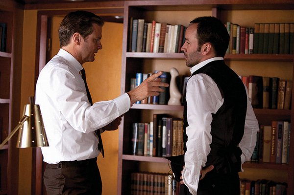 Colin Firth with director Tom Ford.