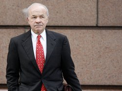Former Enron CEO Kenneth Lay heads to his fraud and conspiracy trial in Houston on April 11, 2006. Lay was accused of lying about Enron's financial health to investors.