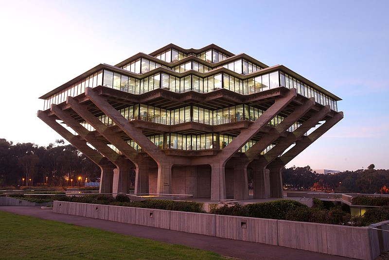 The Geisel Library, one of UCSD's most prominent buildings, in an undated photo.