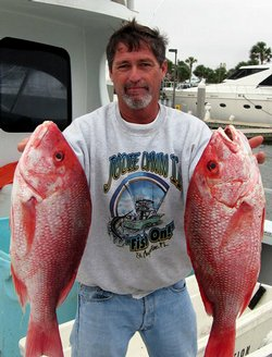 Robert Johnson caught nearly 100 red snapper on a recent day trip. He says he...