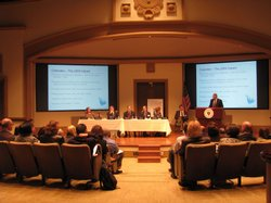 A panel of San Diego economists, including Marney Cox, chief economist at SAN...
