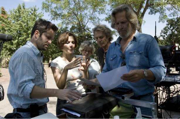 "Writer-director Scott Cooper on the set of ""Crazy Heart"""
