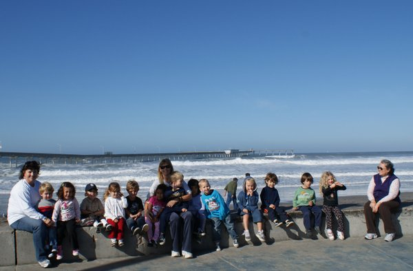 Ruth Paschal of the Ocean Beach Child Development Center brought the kids down to watch the waves at the Ocean Beach Pier on January 14, 2010.