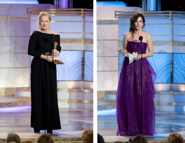 Best Actress winners (again!): Meryl Streep and Sandra Bullock