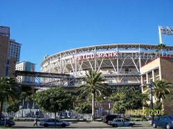 San Diego's Petco Park opened in 2004 in the East Village neighborhood. It's home to the San Diego Padres baseball team.