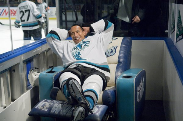 "Okay the recliner in the penalty box made me smile. Dwyne Johnson in ""Tooth Fairy."""