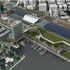 Bay side aerial view of the proposed San Diego Convention Center expansion.
