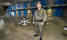 Officer B. Graham has been working at R.J. Donovan Correctional Facility since 1997.  He works the morning shift in a Level 4 maximum security housing unit.  Graham says one of the inmates in his unit is on suicide watch, so part of his job is checking on him hourly.  He says the most stressful part of his job is dealing with prisoners who are violent and breaking up fights in the safest way.