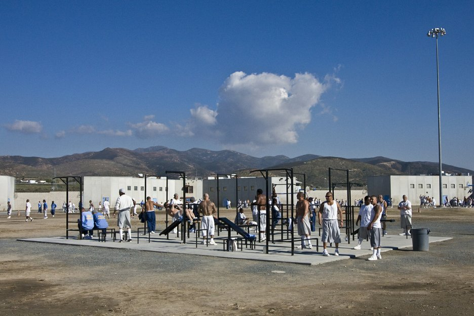 A yard for Level 4 prisoners (maximum security). They are allowed 15 hours of yard time a week.