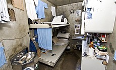 Inside a Level 4 inmate's cell at the R.J. Donovan Correctional Facility.