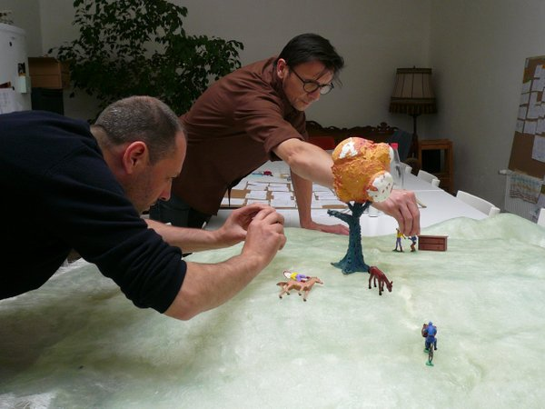 "The stop motion animation process for ""A Town Called Panic"""