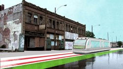 Using CGI animation combined with current footage of Detroit, the film brings the vision of the city's possible transportation future to life. A network of trains within the city center would run along main thoroughfares.