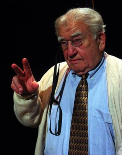 Actor Ed Asner as Franklin D. Roosevelt in the one-man show